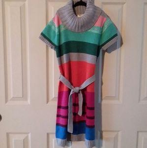 Crazy 8 Girls Striped Cowl Neck Sweater Dress